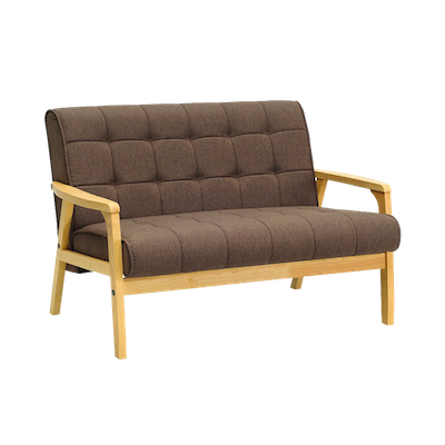 Tucson Loveseat - Natural, Chestnut - Image 1