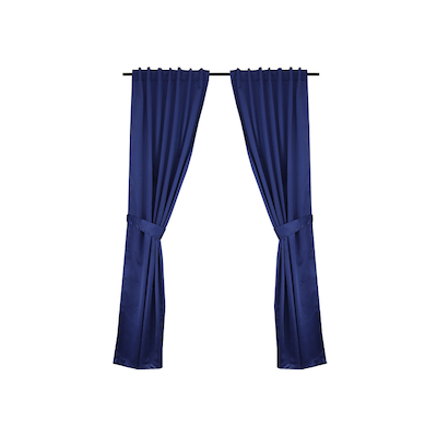 Tuli Curtain (Set of 2) - Blue - Image 1