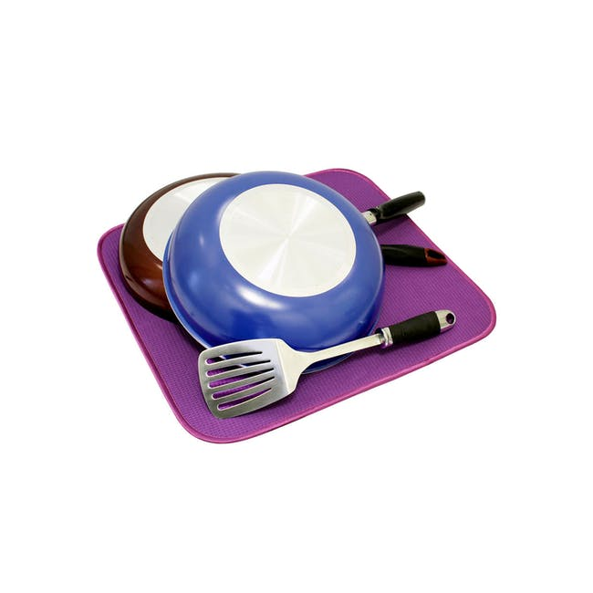 Dish Drying Mat Grape - 0
