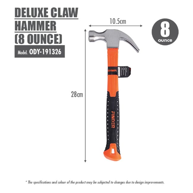 FINDER Deluxe Claw Hammer (2 Sizes) - 8