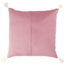 Tassel Hello Cushion - Pink