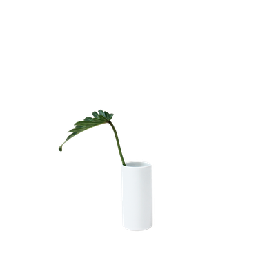 Nordic Matte Vase Small Straight Cylinder - White - Image 1