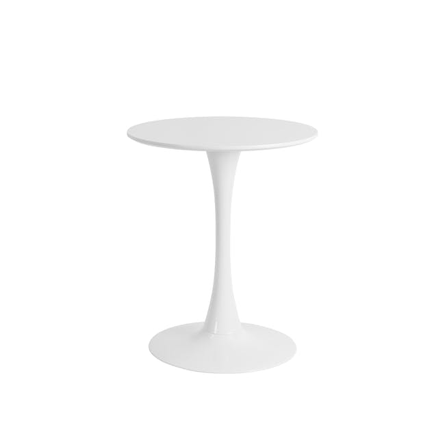 Carmen Round Dining Table 0.6m with 2 DSW Chair Replica in Natural, Black - 1
