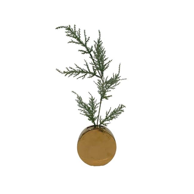 Fern Gold Vases - Round Vase - 0