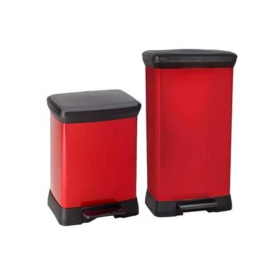 Deco Bin Rect - Red
