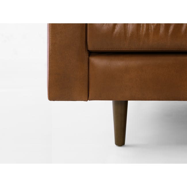Nolan 3 Seater Sofa - Cigar (Premium Waxed Leather) - 7