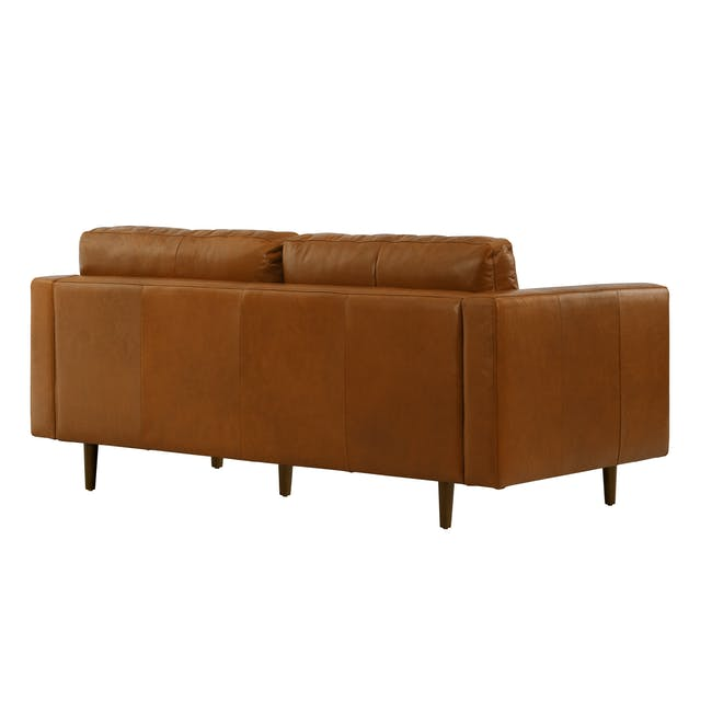 Nolan 3 Seater Sofa - Cigar (Premium Waxed Leather) - 4