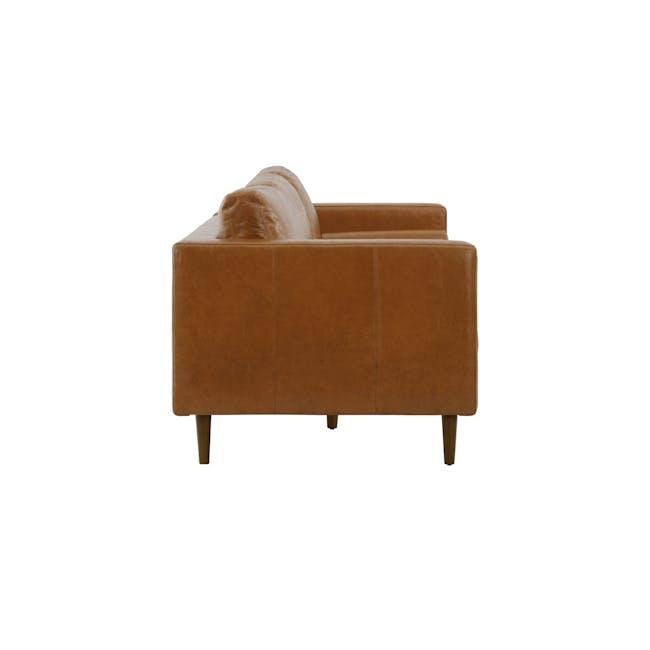 Nolan 3 Seater Sofa - Cigar (Premium Waxed Leather) - 3