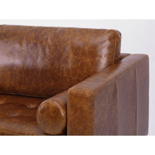 Nolan 3 Seater Sofa - Cigar (Premium Waxed Leather) - 6