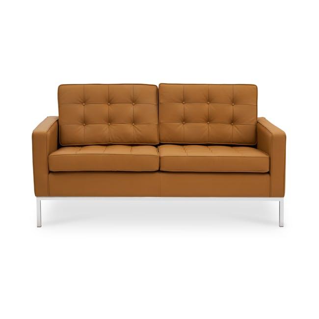 Florence Knoll 2 Seater Sofa Replica - Tan (Genuine Cowhide) - 0