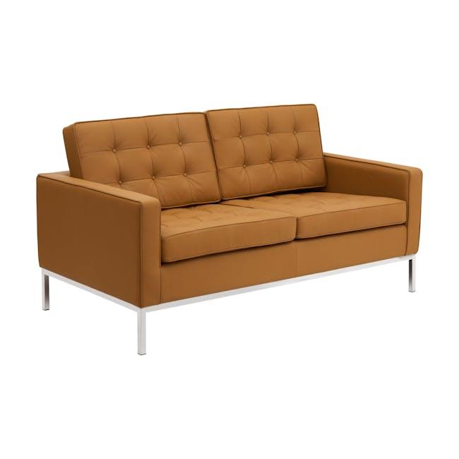 Florence Knoll 2 Seater Sofa Replica - Tan (Genuine Cowhide) - 1