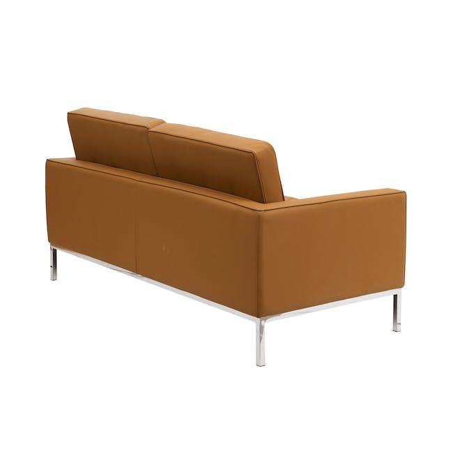 Florence Knoll 2 Seater Sofa Replica - Tan (Genuine Cowhide) - 3