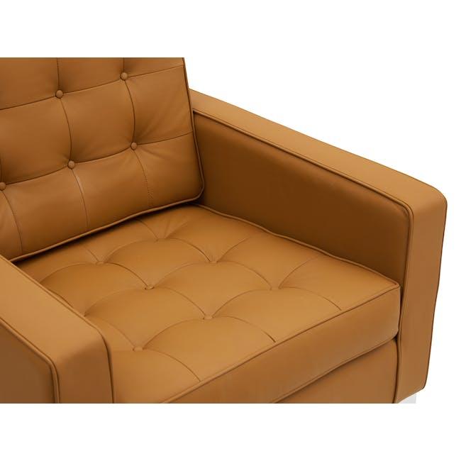 Florence Knoll 2 Seater Sofa Replica - Tan (Genuine Cowhide) - 5