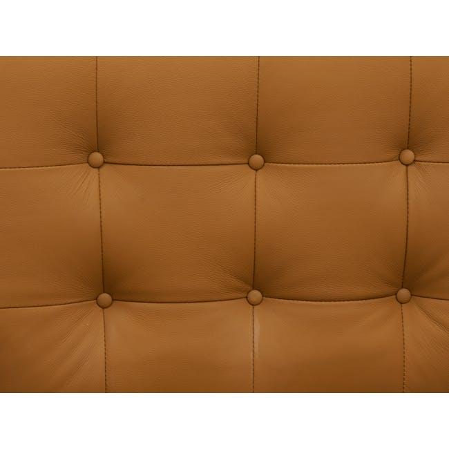 Florence Knoll 2 Seater Sofa Replica - Tan (Genuine Cowhide) - 6