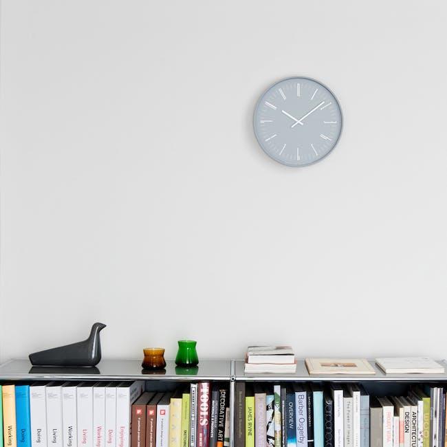 Draw Wall Clock (Flat) -Gray - 1