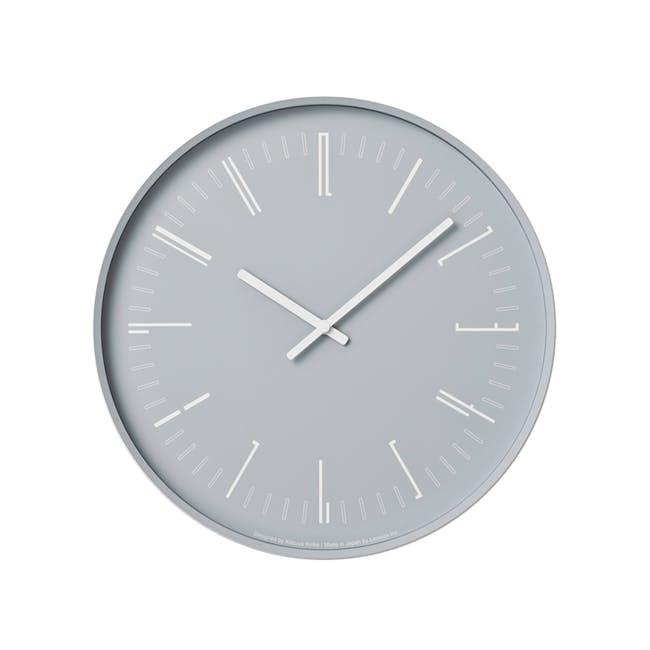 Draw Wall Clock (Flat) -Gray - 0