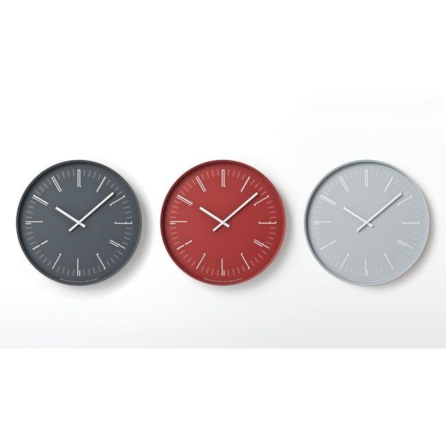 Draw Wall Clock (Flat) -Gray - 2