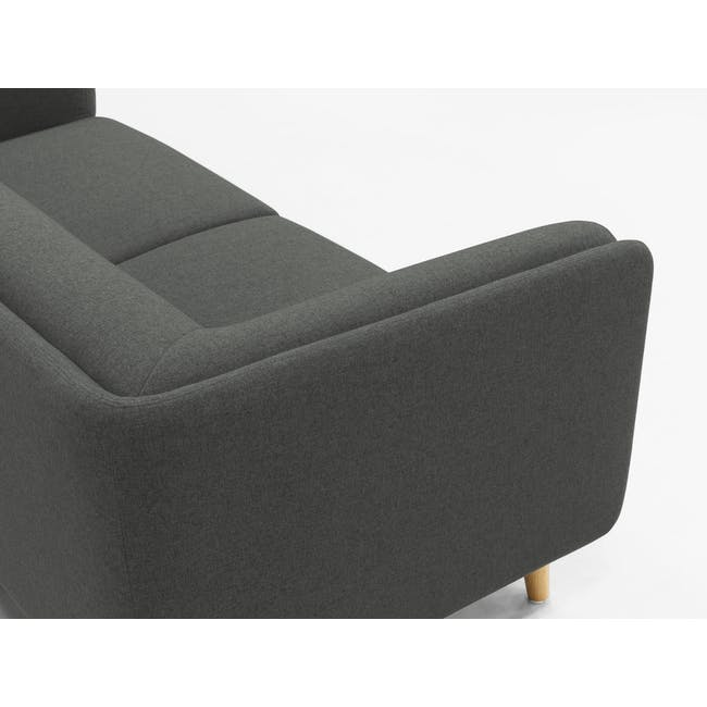 Audrey 2 Seater Sofa - Granite Grey - 5