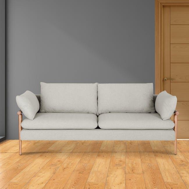 Astrid 3 Seater Sofa - Ivory - 1