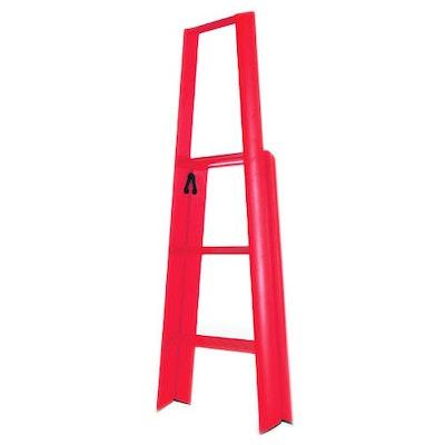 Hasegawa 3 Step Aluminium Ladder – Red - Image 2