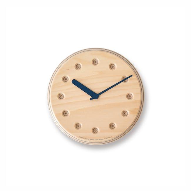 Dot Paper-Wood Clock - Navy Blue - 0