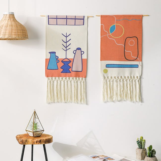 Nordic Tapestry with Tassle - Modern Kitchen - 2