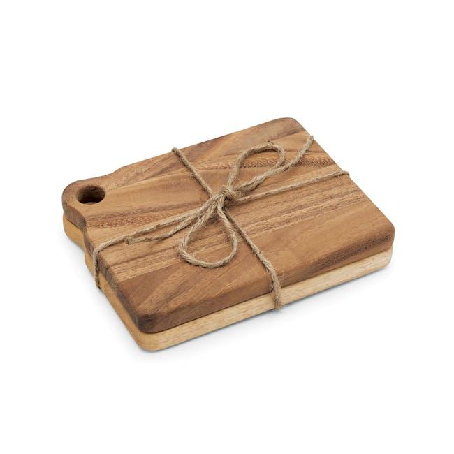 Ironwood Sandwich Acacia Cutting Serving Boards Set - 0
