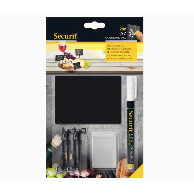 Securit Washable Chalkboard Tags A7 (Set Of 20 Tags) - 2