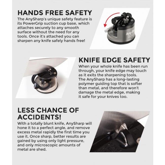 AnySharp Knife Sharpener - Navy - 3