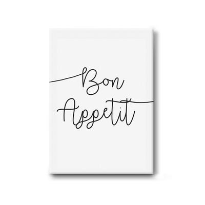 Bon Appetit Stretched Canvas Art Print - Image 1