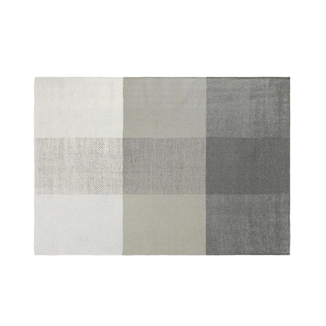 Array Flatwoven Rug 2.4m by 1.7m - Grey - 0