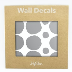 Polka Dot Wall Decal Pack (Pack of 54) - Silver