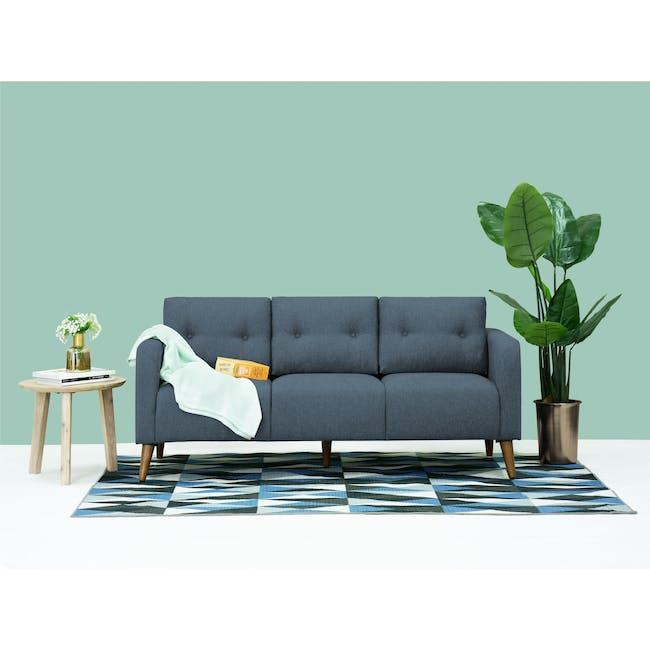 Bennett 3 Seater Sofa with Bennett Armchair - Midnight - 1
