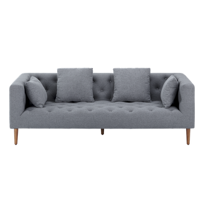 Elizabeth 3 Seater Sofa - Dark Grey - Image 2