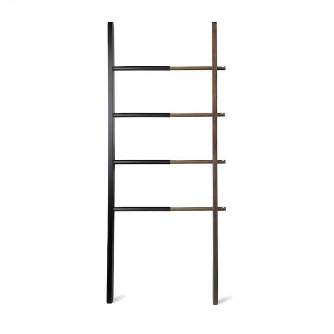 Hub Ladder - Black, Walnut - 0