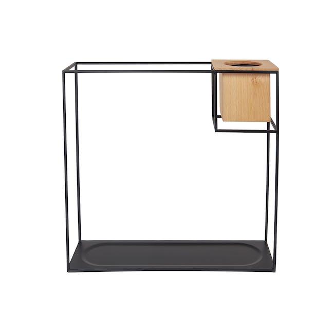 Cubist Large Wall Shelf - Natural, Black - 5