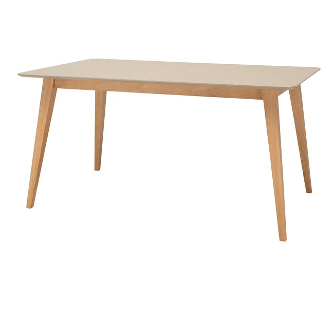 Ralph Dining Table 1.5m - Natural, Taupe Grey - 0