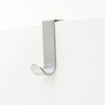 Single J-Hook over Drawer / Cupboard - Brushed Steel (Pack of 2) - Image 1