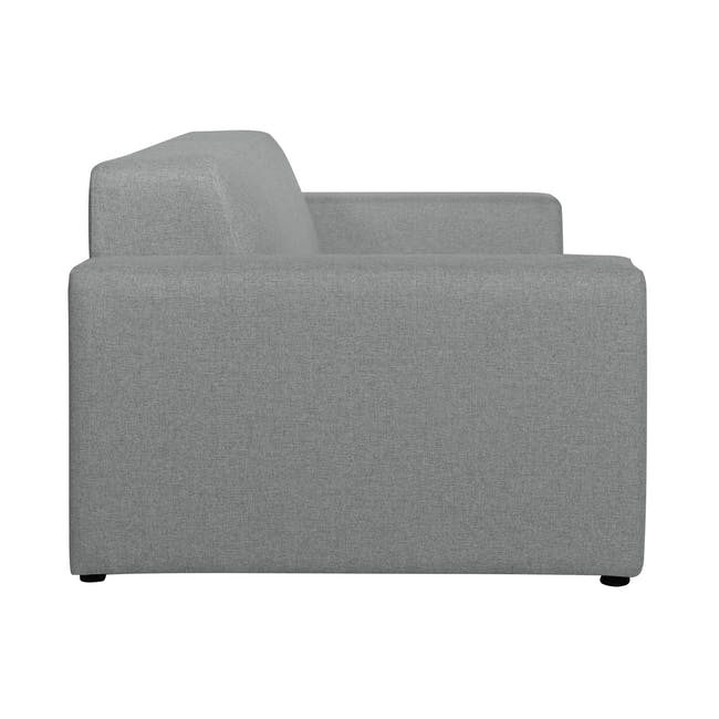Adam 3 Seater Sofa in Stone with Veronic in Forest Green - 3
