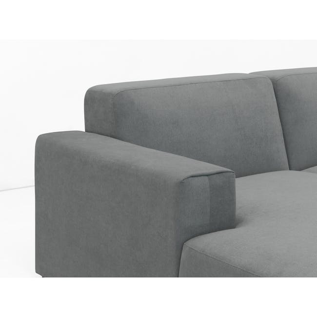 Adam 3 Seater Sofa in Stone with Veronic in Forest Green - 4