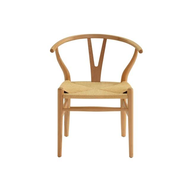 Wishbone Chair Replica - Beech, Natural Cord - 6