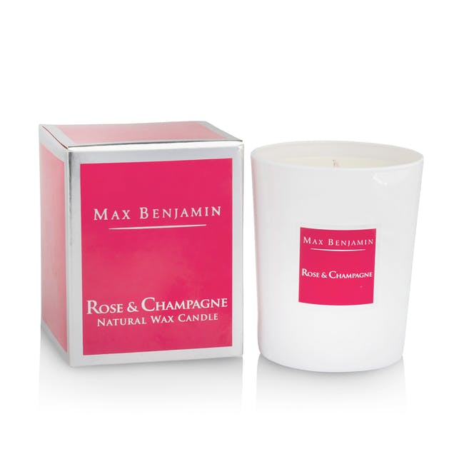 Rose and Champagne Candle - 1