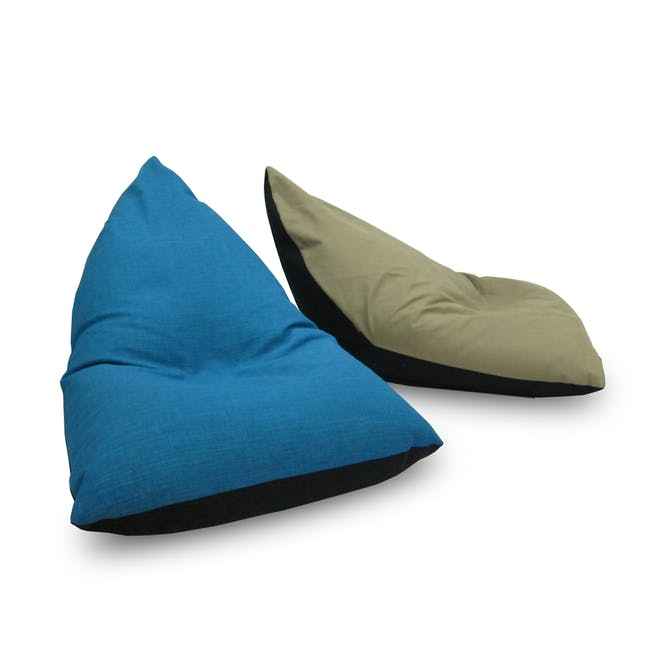 Doodle Triangle Bean Bag - Blue - 2