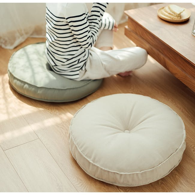Hanya Round Floor Seat Cushion 60 cm - Sage - 3