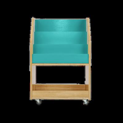 Julian Bookshelves - Natural, Teal Blue - Image 2