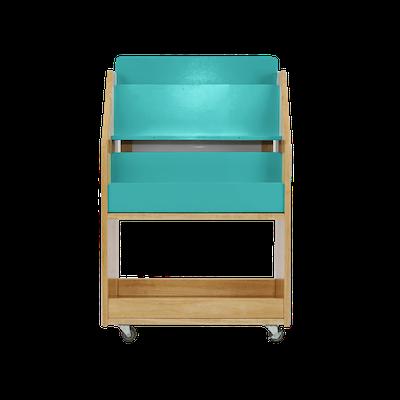 Julian Bookshelves - Natural, Teal Blue - Image 1