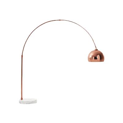 Buy floor lamps online in singapore hipvan olivia floor lamp copper image 1 aloadofball Gallery