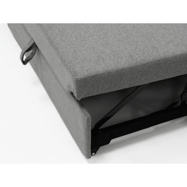 Mia L-Shaped Storage Sofa Bed - Dove Grey - 9