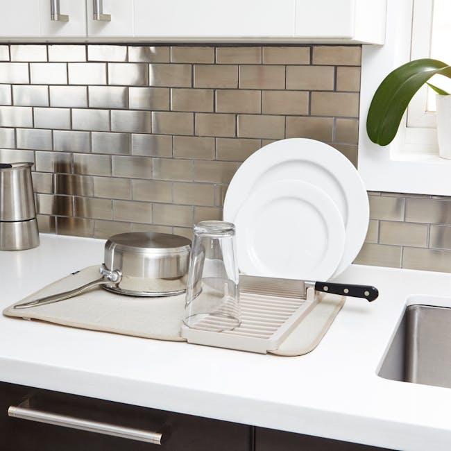 Udry Mini Dish Drying Mat - Linen - 4