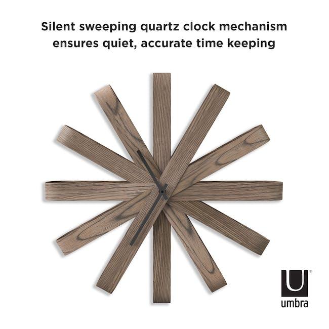 Ribbon Wall Clock - Walnut - 4